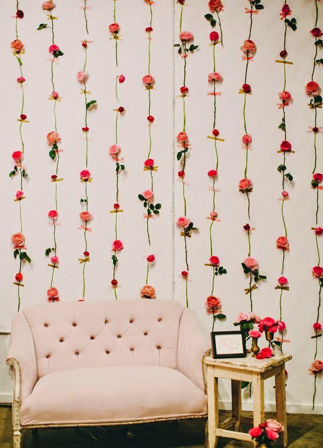 cortina rosas