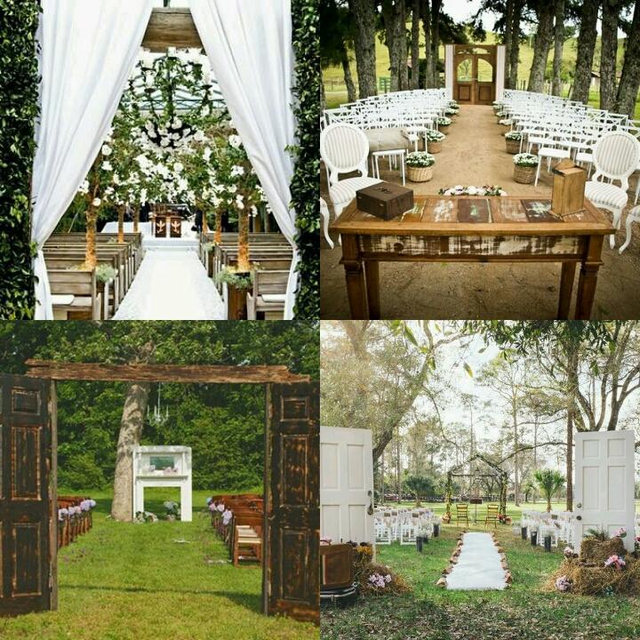 Conhecido Portas em Cerimônias de Casamento ao Ar Livre - Blog da Flaviana NF89