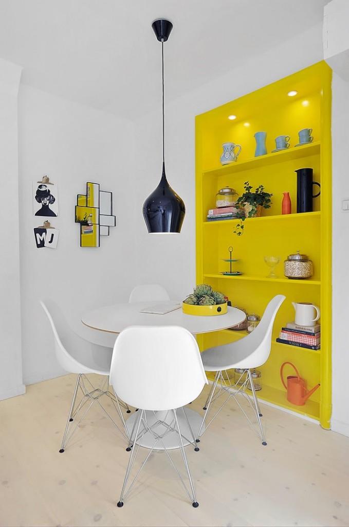 parede amarela sala jantar